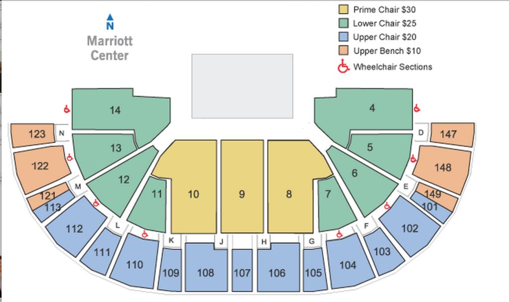 - BYU Arena Seating Chart