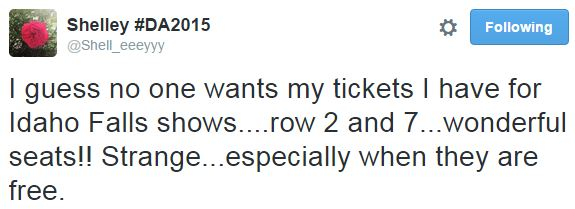 Shelley free tickets to IF