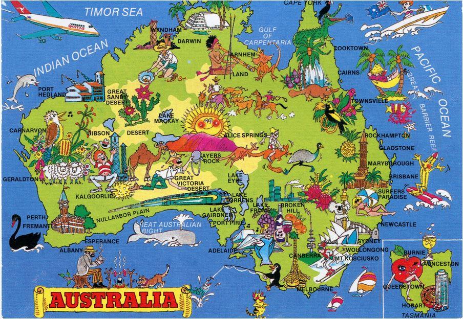 australia fun map