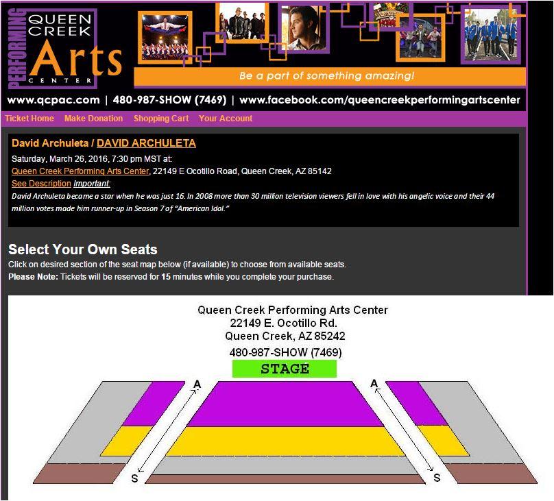 queen creek seats chart
