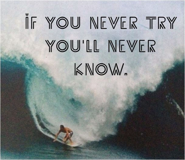 quote if you never try you'll never know
