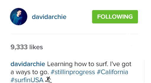 surfing IG post mssg by David
