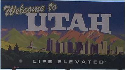 Utah is elevated sign