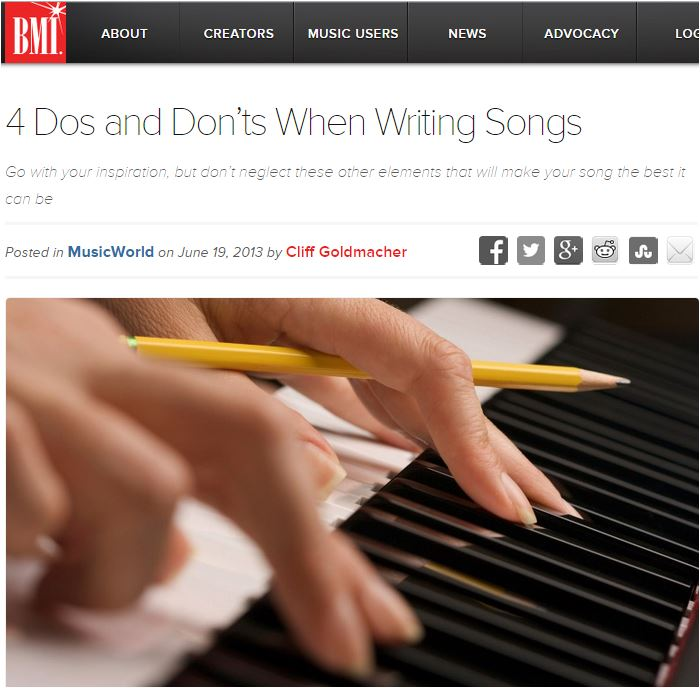 bmi 4 dos and don'ts of songwriting