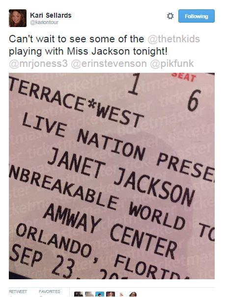 tweet Kari Janet Jackson show