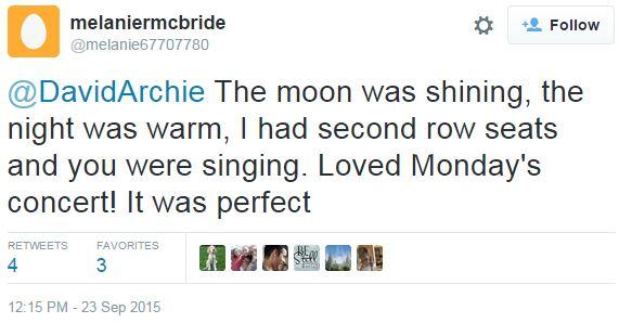 tweet Melaniermcbride The moon was shining