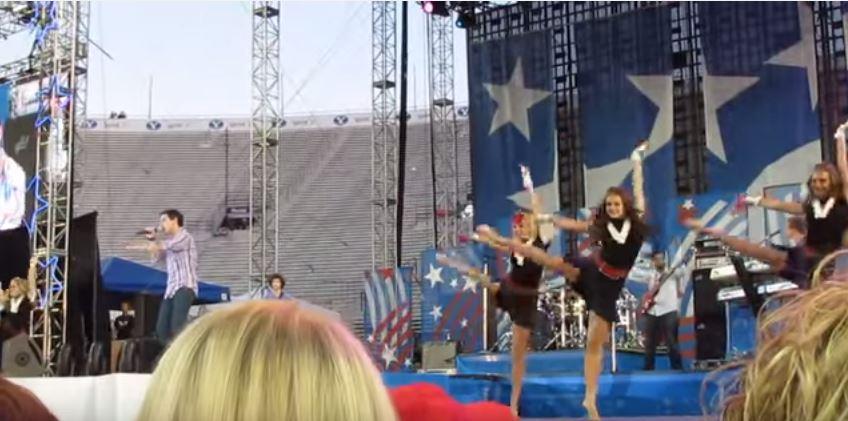 David Archuleta dancers screencap stomping the roses str stadium of fire sof