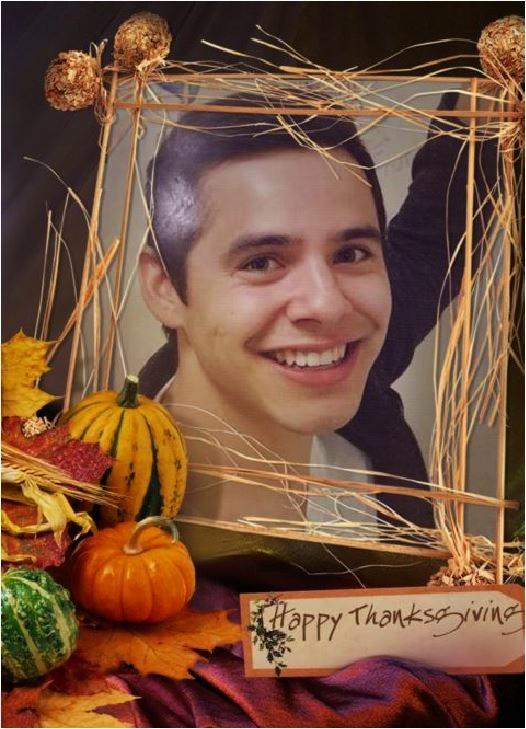 Happy Thanksgiving Midland crop framed