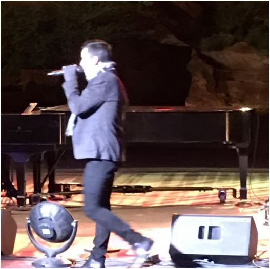 David on stage at Tuacahn credit Shelley