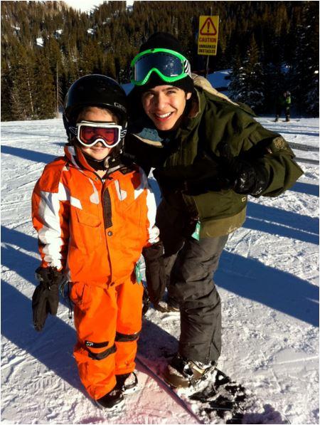 DAvid snowboarding