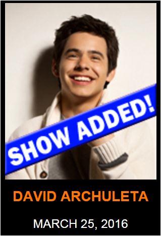 David Archuleta Queens Creek Show added