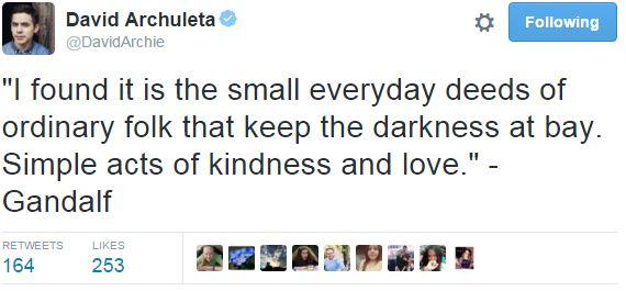 Tweet David 1-19-2015 quote Gandalf