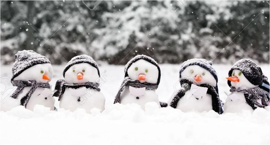 snow snowman group band
