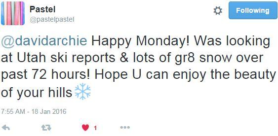 tweet Mary Lou snowhills in UT
