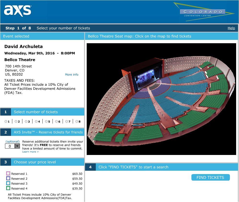 BEllco Denver select seats
