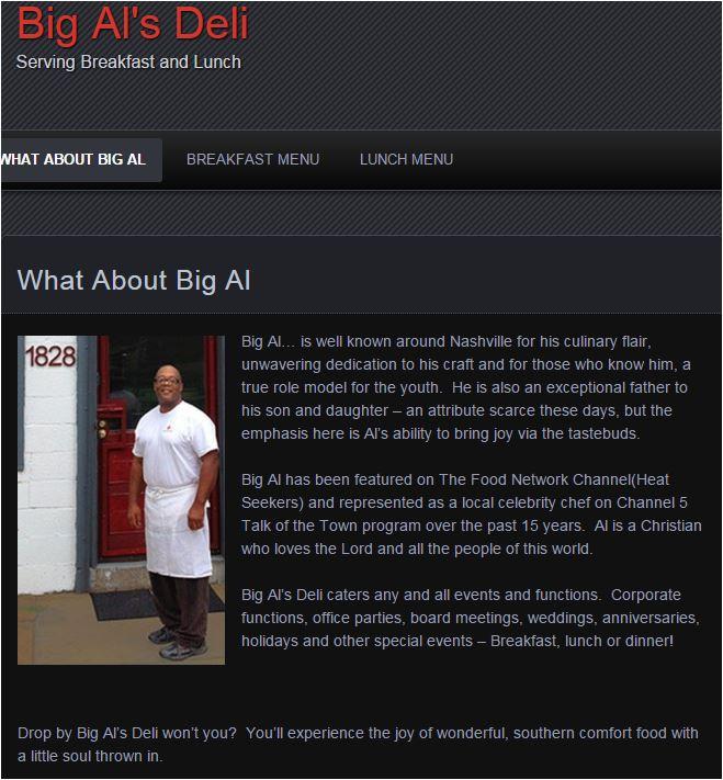 Big Al's Deli About