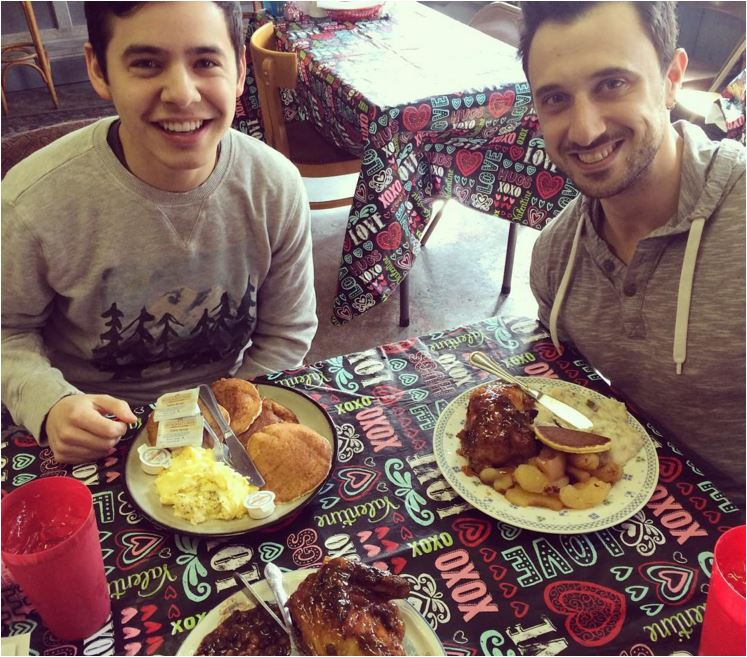 IG isabeau miller Shaun Balin and David eating 2-4-16