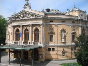 Slovenian Opera house outside