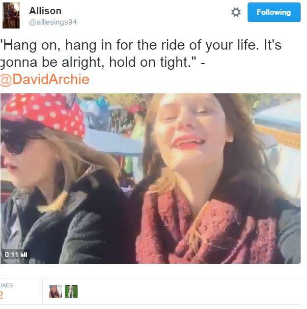 Tweet Allison Hang on