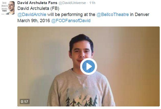 Tweet Shanelle facebook post Invite to Denver David
