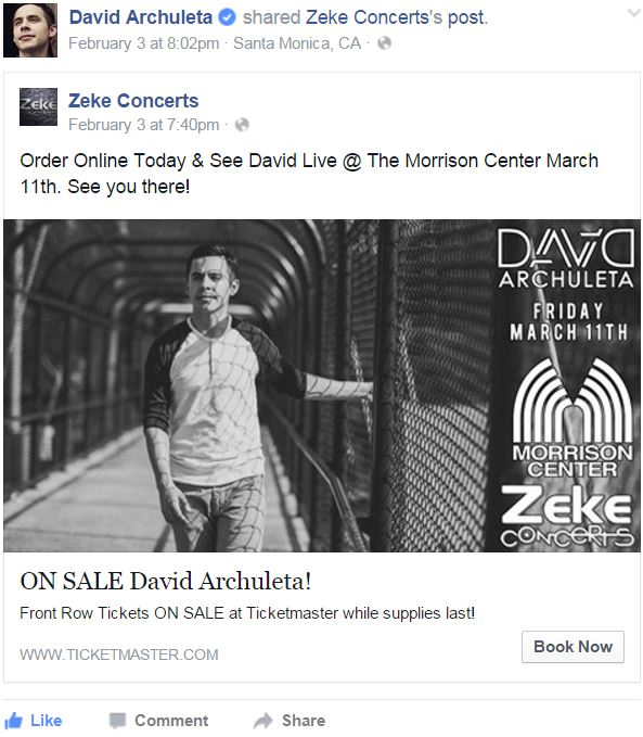 facebook David posts about Zeke Concerts