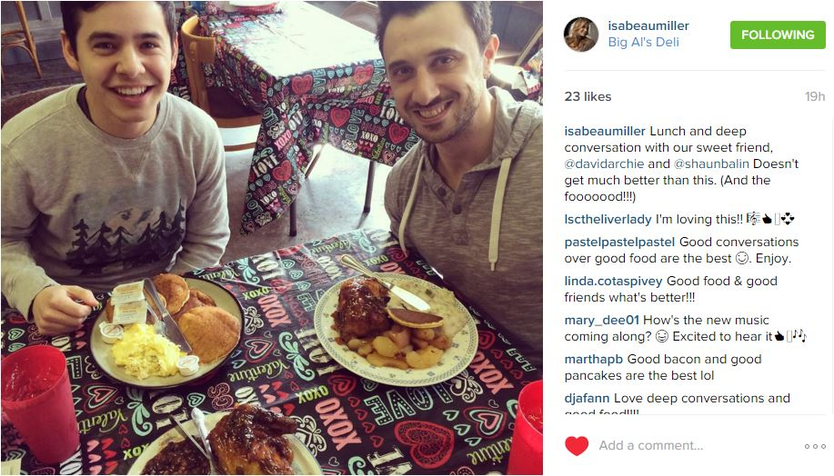 isabeau Miller IG lunch and pancakes