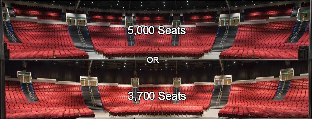 teater Bellco lebih banyak kursi dan kecil
