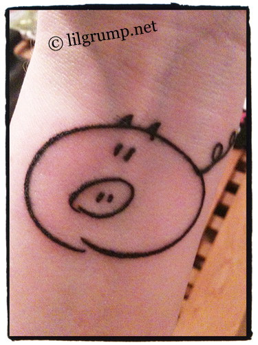 - Squiggly Pig tattoo! Credit Christine B from Denmark!