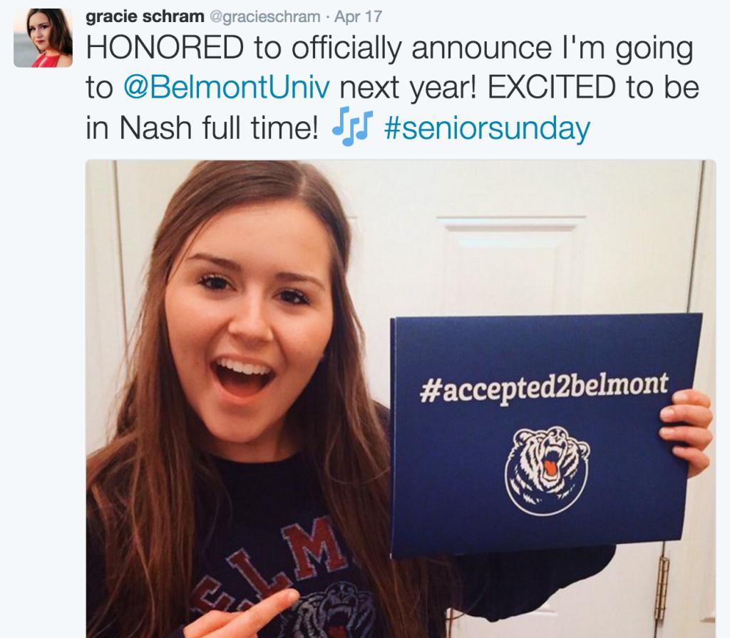 - She'll be in Nashville!