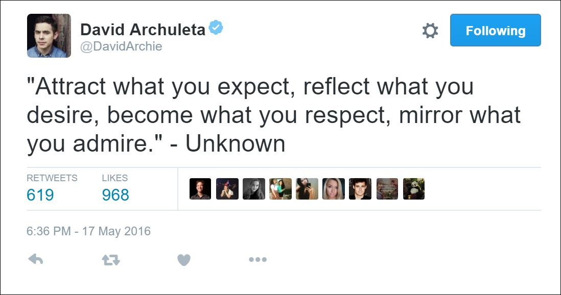 attract what you expect quote tweet david archuleta