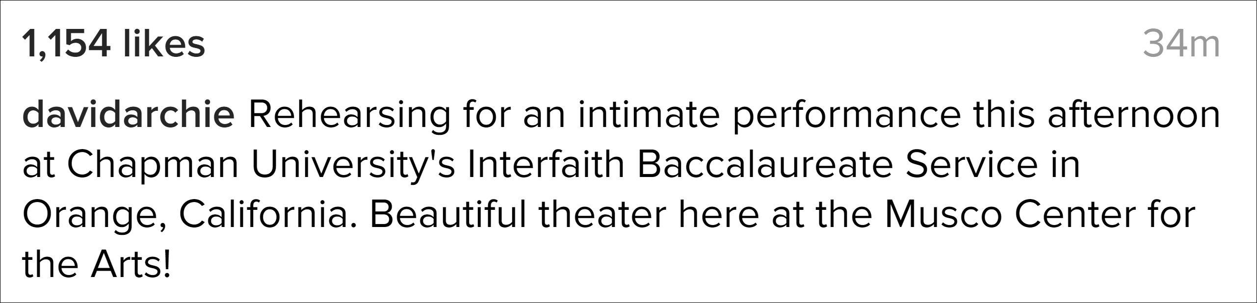 calm before the crowd musco center interfaith service baccalaureate chapman university