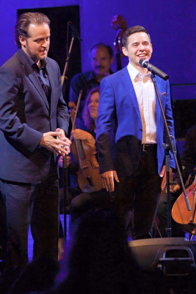 david archuleta and paul cardall on stage
