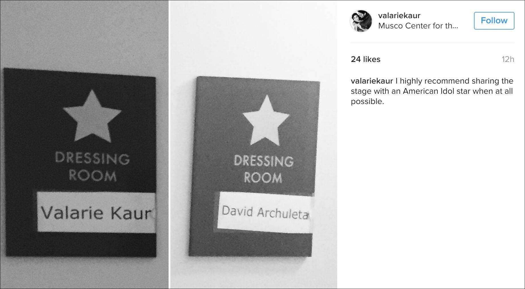 david dressing room