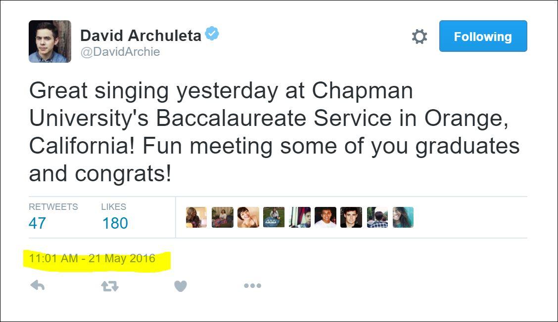 david tweet chapman
