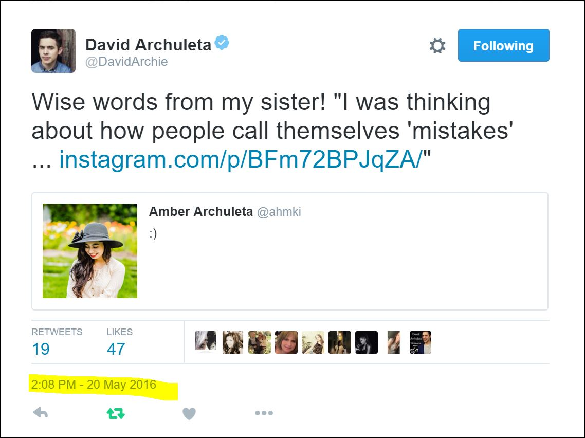 davids sister amber wise