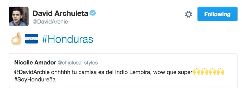 DA Tweet Honduras