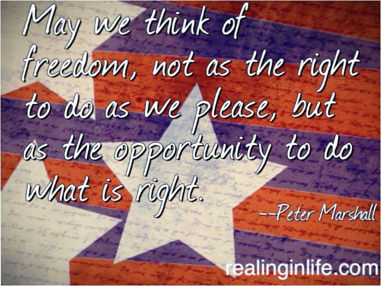 Quote May we think of freedom