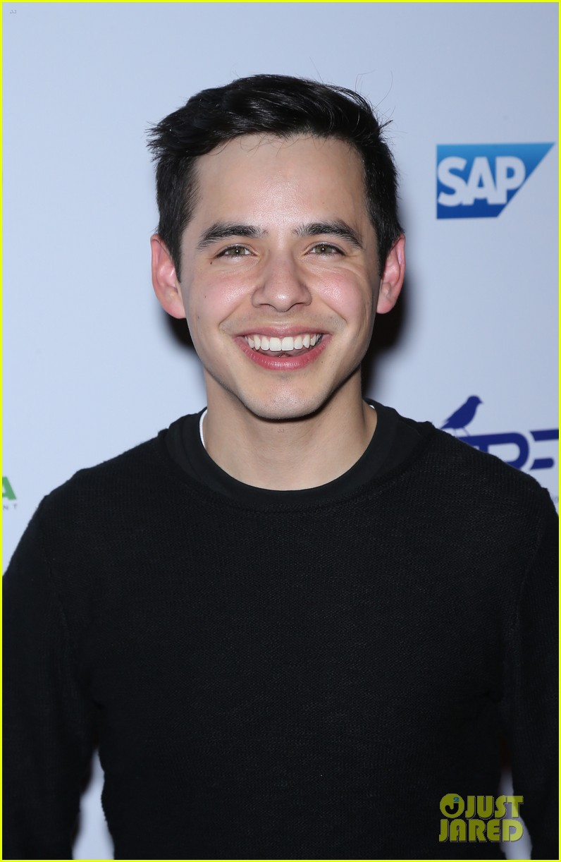 David Archuleta on the Red Carpet at the Tyler Robinson Foundation Gala in Las Vegas.  David is wearing a black sweater