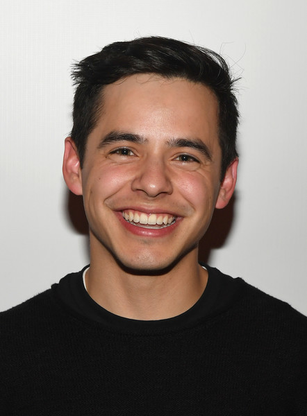 David Archuleta on the Red Carpet at the 3rd Annual Tyler Event with Imagine Dragons.  David is wearing a black T shirt