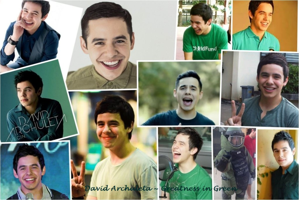 collage greatness in Green David Archuleta