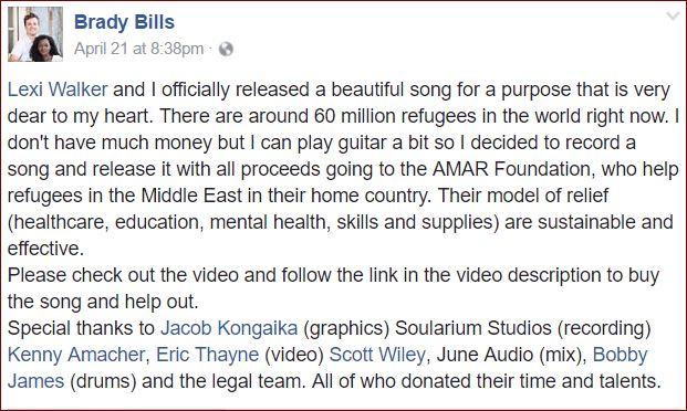 Brady Bills fb AMAR project