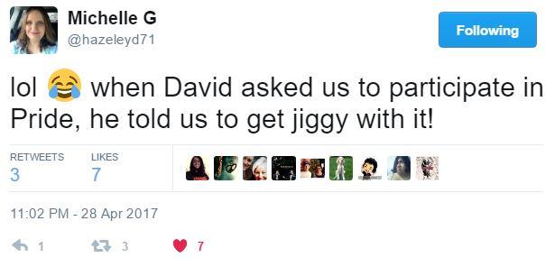 TOFW Houston Tweet Michelle pride jiggy