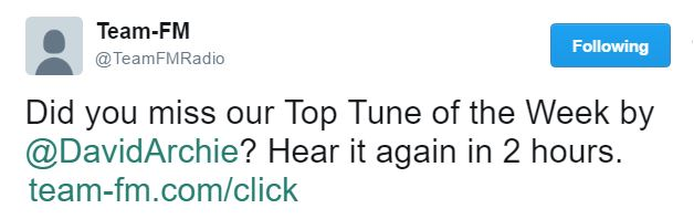 Up All Night Team FM tweet