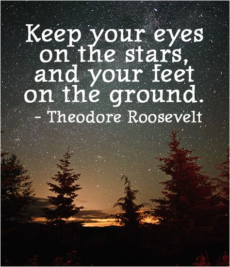 quote keep your eyes on the stars