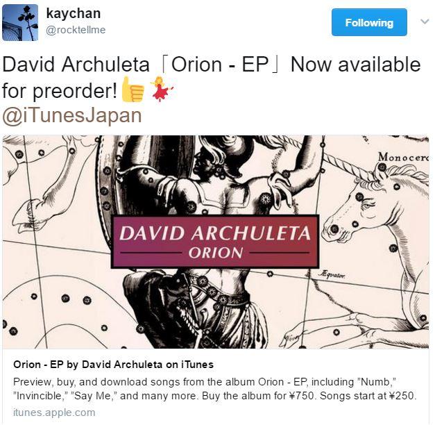 tweet ORION ep on Japan iTunes credit Keiko