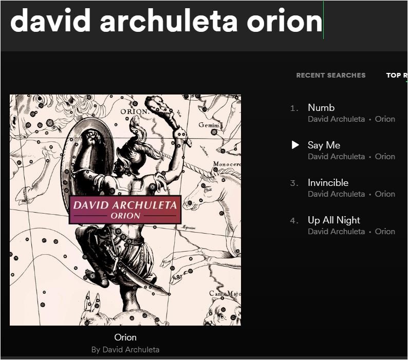 David Archuleta Orion on Spotify