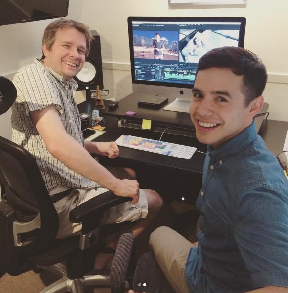 David Archuleta with director @Leebob61 (Nathan D) on IG