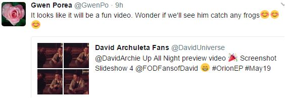 Up All Night mv tweet gwen