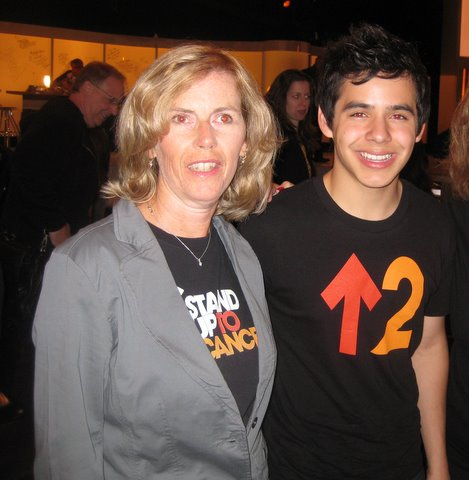David Archuleta and Marge at Stand Up to Cancer LA Sept 2010