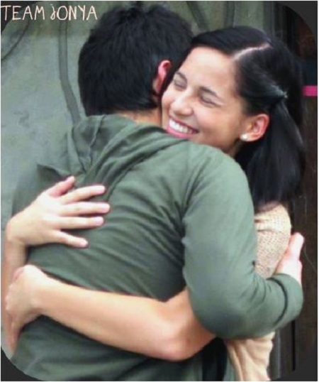 Josh and Anya hug credit : Shelby